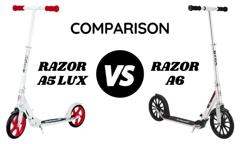 Razor A6 vs A5 Kick Scooter