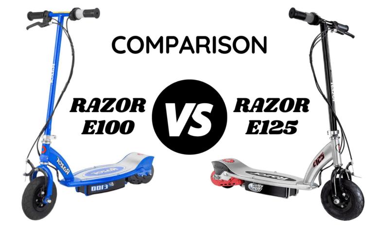 Razor E100 vs E125